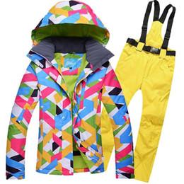 Winter Snow Suits Australia - Women's Ski Suit Snowboarding Set Female Winter Jacket Pants Waterproof Winter Sport Suit For Women Ski Jacket Women Snow Pants