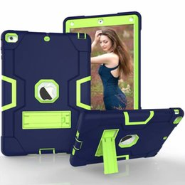 Wholesale Shockproof Case for Apple iPad inch New Kickstand Kids Silicone Hard Full Body Protective Case Cover for Min Air