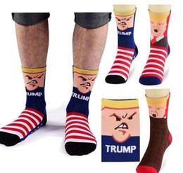 Wools socks online shopping - 3 design Trump socks President Donald Trump Mid calf Sock US Presidential Election D Print Middle Long Stockings For Men Women KKA6334