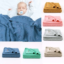 $enCountryForm.capitalKeyWord Australia - Blanket for Baby Boy Girl Baby Blanket Cotton Newborn Knitted Swaddle Infant Crochet Blankets Carriage Quilt Gift