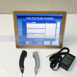 2in1 portátil Analisador de Pele máquina de Análise Da Pele do cabelo salão de Beleza Equipamento Facial Scanner de Pele Analisador com Luz UV em Promoção