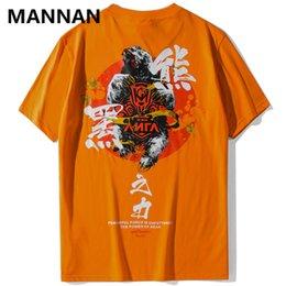 $enCountryForm.capitalKeyWord Australia - MANNAN Power of black bear Printed T Shirts Men Harajuku Casual Streetwear Tops Tees 2019 Male Fashion Hip Hop Tshirts