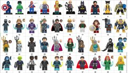batman figure wholesale NZ - Wholsale Super hero Mini Figures Marvel Avengers DC Justice League Wonder woman Deadpool Batman Thor Loki building blocks kids toy