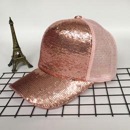 $enCountryForm.capitalKeyWord Australia - Maxi factory direct sales multi colors sunscreen baseball cap sequins mesh breathable bling shiny hip hop hat for adults unisex