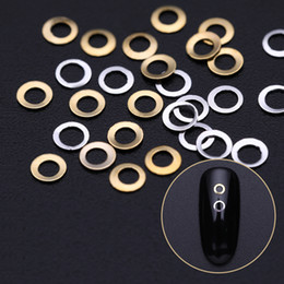 Nail art square desigN online shopping - 100Pcs Bag Geometric Nail Rivet Studs Gold Metal Square Round D Nail Art Decorations Accessories for Spa DIY Design