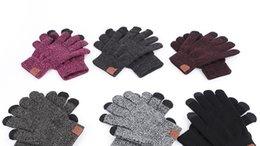 be4962a1dd4144 2018 europa amerika mode gestrickte cc handschuhe fäustlinge marke herbst  winter warmen touchscreen radfahren handschuhe für frauen und männer