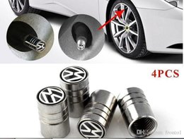 polo scirocco UK - Car-stying Car Wheel Tire Valves Cover case for Volkswagen Scirocco CC GOLF 7 Golf 6 MK6 Polo GTI VW Tiguan car stying