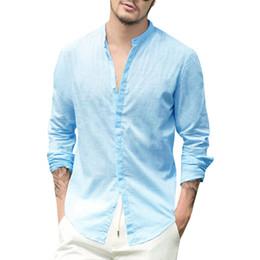 $enCountryForm.capitalKeyWord Australia - 2019 Summer Men's Stylish Shirt Solid Colour Long Sleeve Leisure Single-breasted Fashion Shirt Men New Fashion Clothing Tops