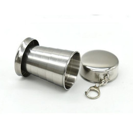 $enCountryForm.capitalKeyWord NZ - 304 Stainless Steel Tumbler Portable Outdoor Mug Cup Travel Camping Folding Foldable cup Collapsible Cup Tumbler