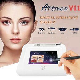 Permanent Tattoo Digital Pen Australia - Permanent Makeup machine digital Artmex V11 touch Tattoo Machine set Eye Brow Lip Rotary Pen PMU MTS System tattoo pen