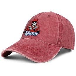 vintage man hat UK - Men Women vintage Denim caps washing Adjustable Misfits Art Skull designer Flat hat cute Dad hat Outdoor