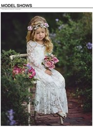 Product Brand Color Australia - Ins New cute pure color Girls fashion Children's dress In the summer hot-sale products Lace embroidered bow dress princess dress white