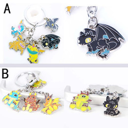 Figures Australia - How to Train Your Dragon 3 toys action figures toys keychain pendant Cute Toothless alloy model Necklace keyring for kids toys