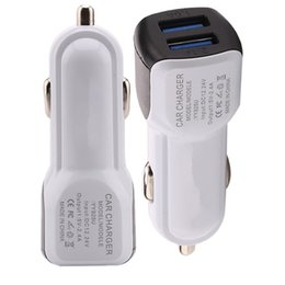 Chinese brand gps online shopping - Universal Dual usb ports mini micro usb car charger A adapter for iphone samsung galaxy s4 s6 s7 s8 note htc android phone gps mp3