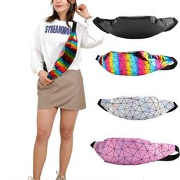 chest pouches UK - NEW Women Waist Bags Laser Fanny Waist Pack Belt Bag Geometric Print Chest Bag Phone Pouch