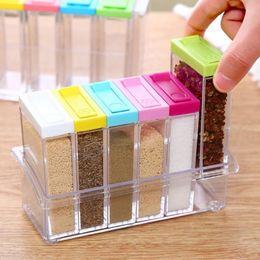 $enCountryForm.capitalKeyWord NZ - 6in1 Spice Container Jar Condiment Dispenser Salt Seasoning Box for Kitchen New