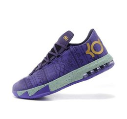$enCountryForm.capitalKeyWord UK - Cheap Mens what the KD 6 vi low tops basketball shoes Aunt Pearl Pink BHM MVP Blue Gold Floral Kevin Durant KD6 sneakers boots kd6 for sale