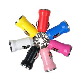 $enCountryForm.capitalKeyWord Australia - Mini Bullet colorful USB Car Charger Adapter for Ipod Iphone 5 5g 4G 3GS 3G 2G Cell Phone Mp3 Mp4 Mp5 10Colors