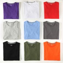 $enCountryForm.capitalKeyWord NZ - Free Ship T-Shirts Men Women 100% Cotton Summer Short Solid Male Female Basic Tshirts Plain Round Neck Plus Size 5XL Tees shirt
