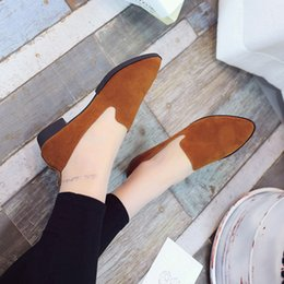 Ladies Soft Canvas Shoes Australia - A14 hot selling womens fashion shoes new style ladies flat shoes high quality canvas leather soft soles shoes with box size35-41