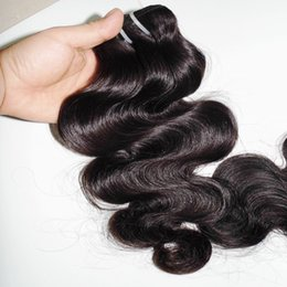 indian remy hair body wave NZ - 1 piece Single bundle cheapest 8A Virgin Indian Remy Human Hair Soft Silky Body Wave Dyeable 100grams