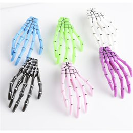 $enCountryForm.capitalKeyWord Australia - 1pc Handmade Skeleton Claw Skull Hand Hair Clip Hairpin Zombie Punk Horror Bobby Pin Barrette Hair Accessories