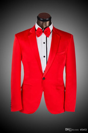 $enCountryForm.capitalKeyWord Australia - Wholesale - 2016 New Arrival Hot Elegant Prom Groom Dress 2016 custom suit Red For Men Business Slim Suit tuxedo (Jacket+Pants+Tie) Free Shi