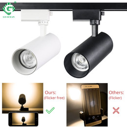 $enCountryForm.capitalKeyWord Australia - 30W COB Track Lights 2 Wire Track Rail Spot Lamp For Home Exhibition Store Clothing Shop Indoor Lighting LED Ceiling light