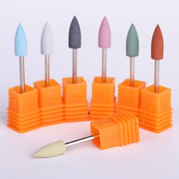 silicone shape cutter NZ - Silicone Electric Nail Drill Machine Nail File Bits Cutter Shaping Nails Remover Gel Polish Art Replacement Tool 6 * 16mm