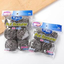 $enCountryForm.capitalKeyWord NZ - New Hot stainless steel cleaning ball steel ball kitchen supplies dishwashing brush wire ball brush