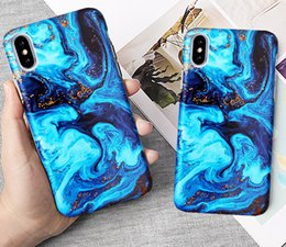 Painting Clip Australia - Fashion Sea Oil Painting Phone Case For Iphone Xs Xr Xs Max X 6 6s 7 8 Plus Matte Hard Half-wrapped Back Cover Coque