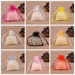 50Pcs bag 9x12cm Organza Bags Wedding Pouches Nice Gift Bag 10 Colors Selection Jewelry packaging Gauze Bag from cheap wedding gift favors manufacturers