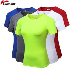$enCountryForm.capitalKeyWord Australia - Women Sexy Yoga Tops Gym Sportswear Fitness tights Girls Clothing Short Sleeve Running Shirt Quick Dry White Blouses Clothes #74559