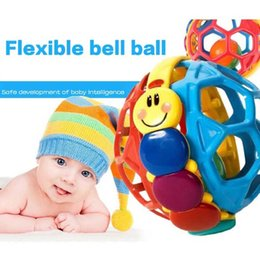 Wholesale Baby Toddlers Fun Multicolor Bouncing Ball Rattle Toy Activity Educational Toys New Rattle