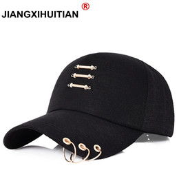 New Iron Ring Cap Women Baseball Cap With Rings Gold Color Snapback Hip Hop  Hats For Women Men Dad Hat Kpop Dropshipping Gorras  220187 bab65d963696