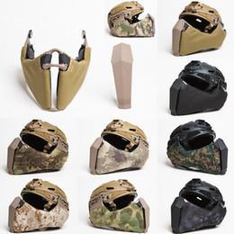 Half Helmet Black Australia - The Newly Designed Mandible Tactical Helmet Guide Side Rail Connection Half Face Mask Face Guard for OC Highcut FAST Helmet