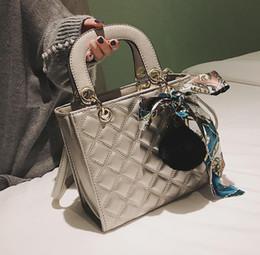 8ffcb17b1cec European Fashion Female Tote bag 2019 New Quality PU Leather Women s  Designer Handbag Ribbon Hair ball Shoulder Messenger bags