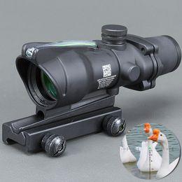 $enCountryForm.capitalKeyWord Australia - Hunting Riflescope ACOG 4X32 Real Fiber Optics Red Green Illuminated Chevron Glass Etched Reticle Tactical Optical Sight