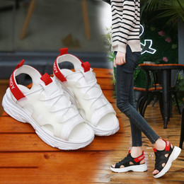 muffin sandals NZ - New Korean version of summer muffin soft sole fishmouth sports sandals thick sole beach shoes