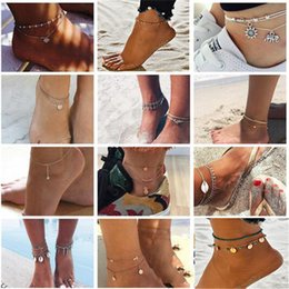 Turtles Figures Australia - Cheap Top Summer Beach Anklets Turtle Elephant Charm Rope String Shells Women Ankle Bracelet Mens Sandals On Leg Chain Foot Jewelry Wholsale