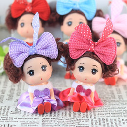 rubber flowers NZ - Special 12cm Confused Doll Silicone Toy Wedding Doll Creative Children Toy Baby Doll Handbag Pendant Wholesale