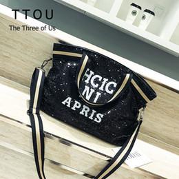 $enCountryForm.capitalKeyWord Australia - Ttou Women Sequin Fashion Handags Female Large Capacity Top-handle Bags Appliques Lady Casual Tote Bags Letter Shoulder Bag Sac Y190620