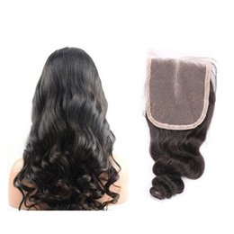 natural color closure Australia - Lumeng Indian Human Hair 4x4 Loose Wave Lace Closure with Baby Hair Natural Color Soft and Smooth