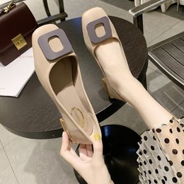 comfortable soft women shoes Australia - Women Loafers Comfortable Flat Shoes Lightweight fashion Female Casual Slip On Shoes Square toe buckle Soft Footwear J16-10