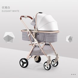 Stroller Light Folding Australia - Baby push can sit and fold folding light high landscape ultra light small portable baby child stroller