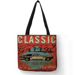 Cooler Handbags Australia - Cool Car Theme Series Tote Bag Classic Vehicle Design Retro Vogue Handbag Personalized Casual Daily Office School Shoulder Bags