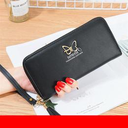 Woman Wallets Butterfly Australia - Women Wallets Tassels Zipper Lady Wristlet Handbags Butterfly Coin Purse Long Woman Wallet Cards Holder Burse Money Bag Purses