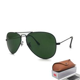 China Hot Sale Aviator Sunglasses RAY Vintage Pilot Brand Sun Glasses Polarized UV400 Bans Men Women Mirror 58mm 62mm glass Lenses suppliers