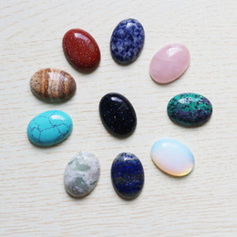$enCountryForm.capitalKeyWord NZ - Wholesale 10pcs lot High Quality Natural stone Oval CAB CABOCHON Teardrop Color mixing Beads DIY Jewelry making earring Free shipping 18*25