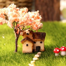 $enCountryForm.capitalKeyWord Australia - Mini Banda House Ornament 6 Designs Fairy Garden Miniature Micro Cottage Landscape Decoration For DIY Resin Crafts 3 Pieces ePacket